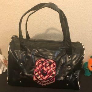 Metal Mulisha Black Satchel Style Handbag Like New